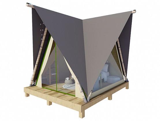 """Палатка """"ПРИЗМА"""" 4х4.5 панорманая"""